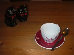 Tea Cup, Saucer and Spoon