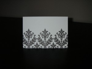 Black and White Note Card