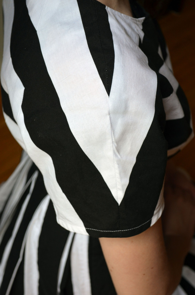 Chevron Sleeve and Striped Dress