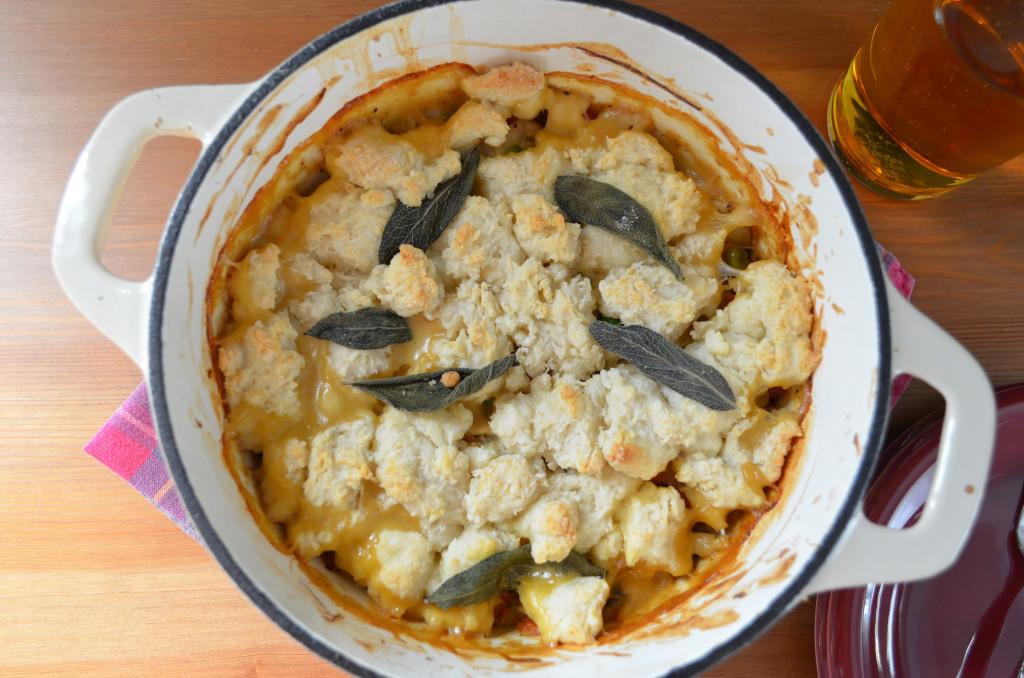 Chicken Pot Pie with Buttermilk Biscuit Top