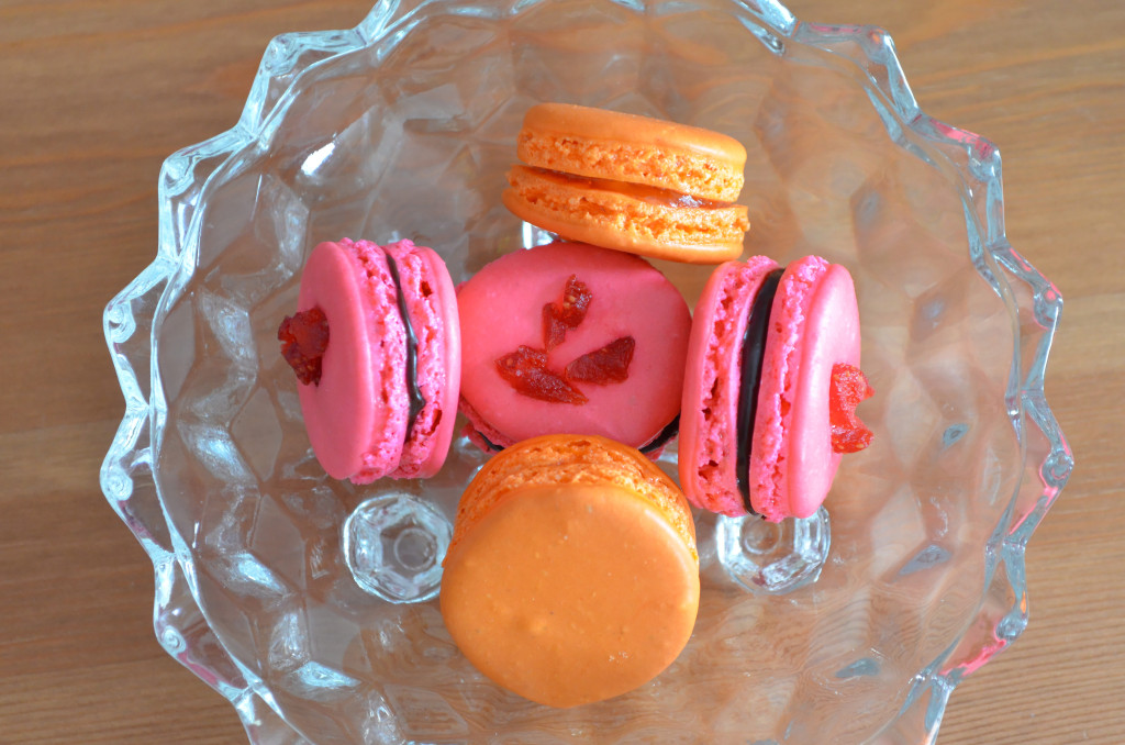 Pink and Orange Macarons