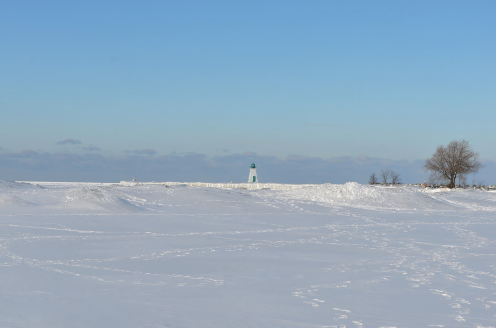 Frozen Waves at the Port Dalhousie Lighthouse