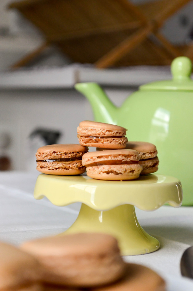 Smokey Black Tea Macarons with Orange Marmalade \\ Sophster-Toaster Blog
