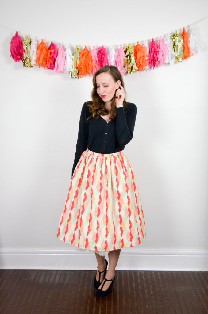 Martinis & Mistletoe Skirt | Sophster-Toaster Blog