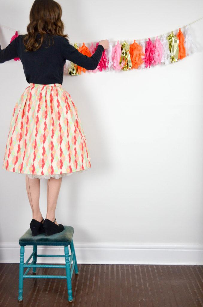 Martinis & Mistletoe Skirt | Sophster-Toaster Blog