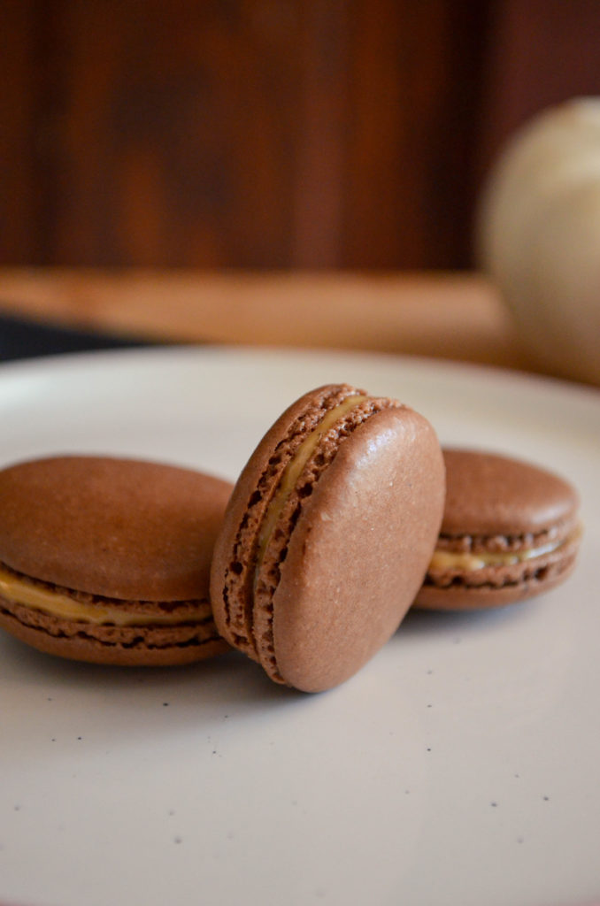 Peanut Butter & Chocolate Macarons | Sophster-Toaster