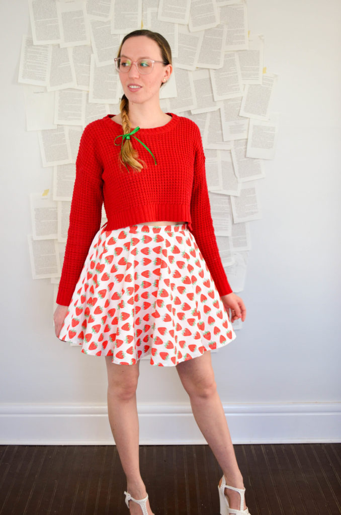 Strawberry Jammer Skater Skirt | Sophster-Toaster